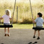 Children on a swing