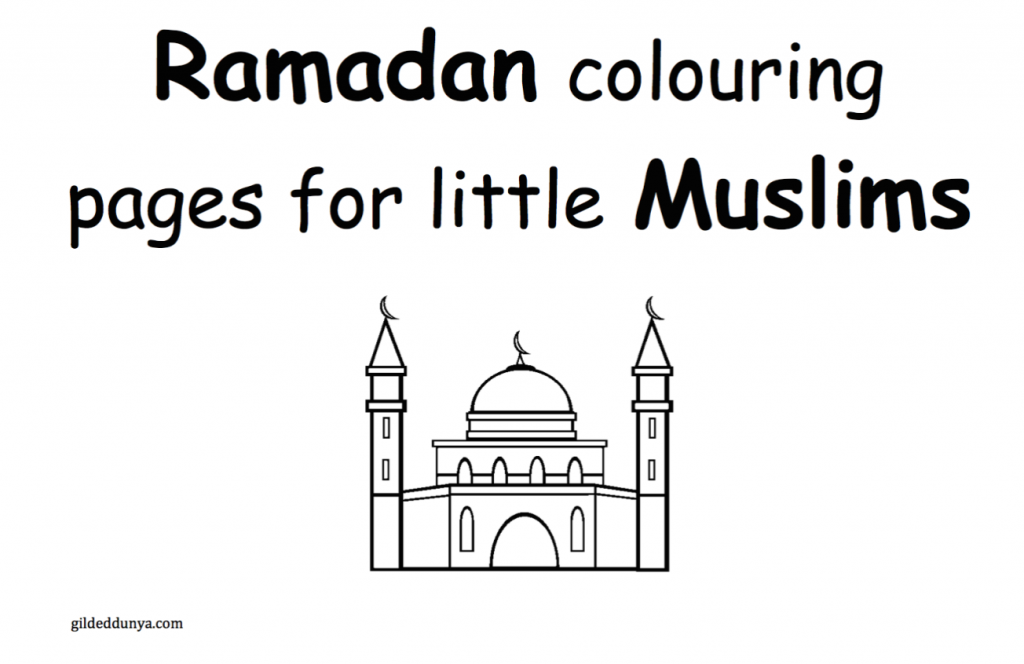 Ramadan Colouring Pages