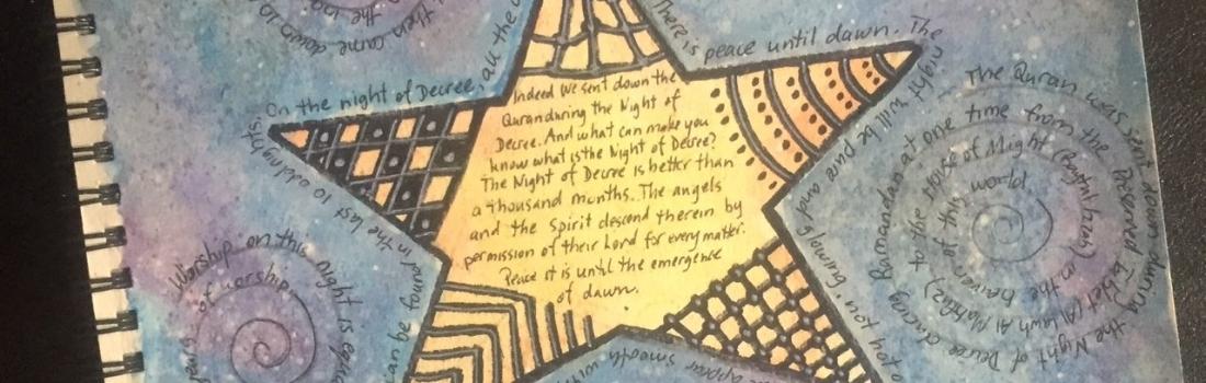 Quran Art Journaling about Surah Qadr