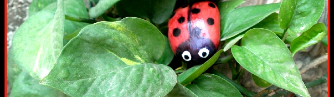 How to Paint LadyBug Stone Rock Pebble