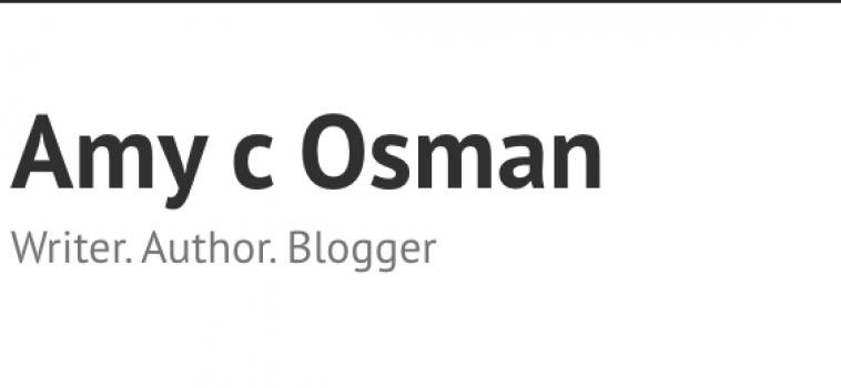 Amy C Osman – April Featured Blogger