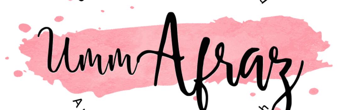 Umm Afraz Muhammed – October 2019 Featured Blogger