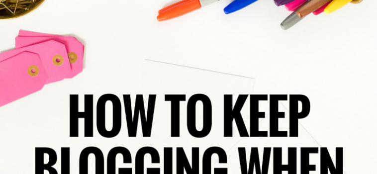 How to Keep Blogging When No One Seems to Care
