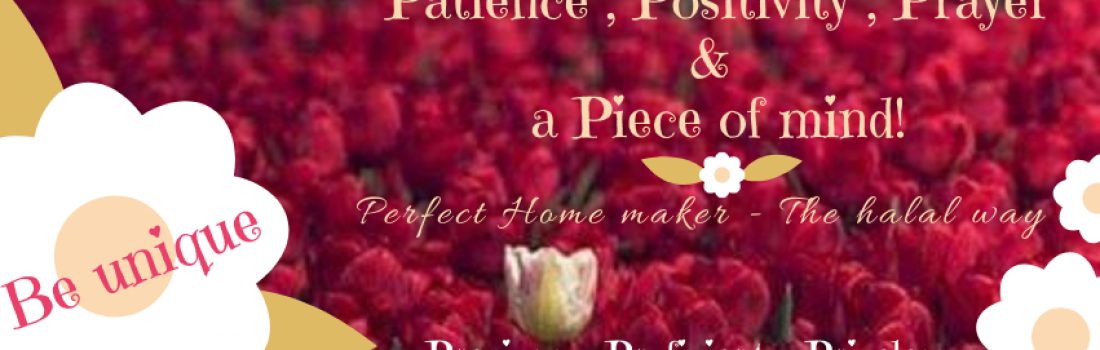 August 2020 Featured Blogger – Perfect HomeMaker – The Halal way